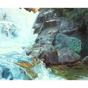 - Quadro -Paisaje con cascada- - Zamarbide, Federico Garcia