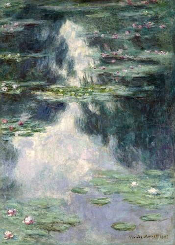 quadros-de-paisagens - Quadro -Pond with Water Lilies, 1907- - Monet, Claude