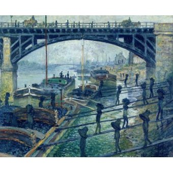 - Quadro -The Coalmen- - Monet, Claude
