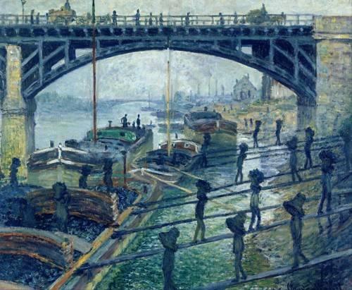 quadros-de-paisagens - Quadro -The Coalmen- - Monet, Claude
