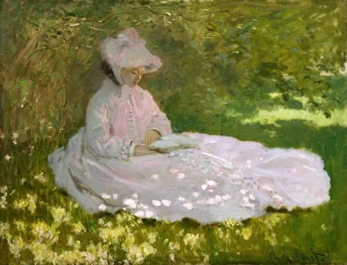 quadros-de-paisagens - Quadro -Primavera, 1872- - Monet, Claude