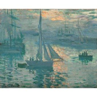 quadros de paisagens marinhas - Quadro -Sunrise (Marina)- - Monet, Claude