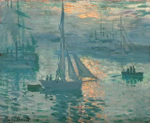 quadros-de-paisagens-marinhas - Quadro -Sunrise (Marina)- - Monet, Claude