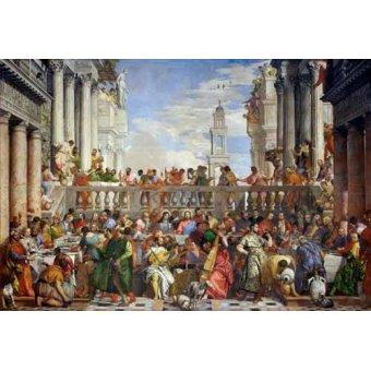 quadros religiosos - Quadro -Las Bodas de Caná, 1563- - Veronese, Paolo