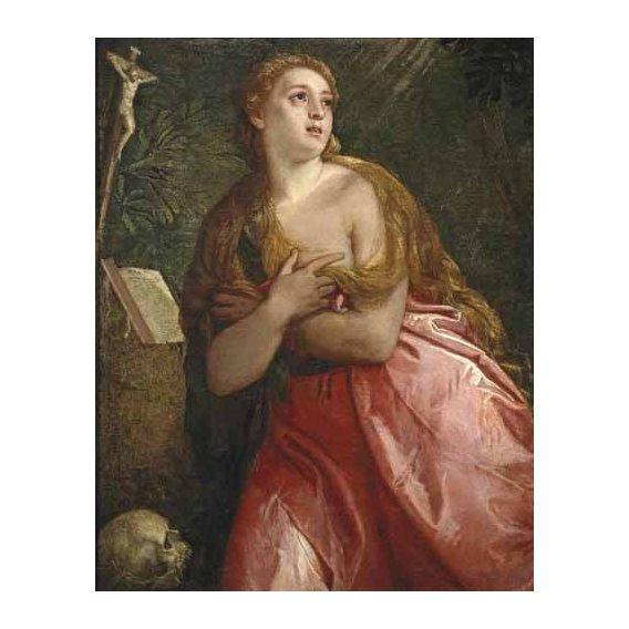 imagens religiosas - Quadro -Maria Magdalena penitente-