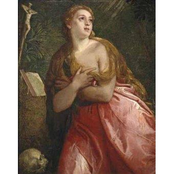 quadros religiosos - Quadro -Maria Magdalena penitente- - Veronese, Paolo