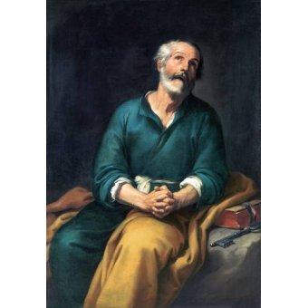 quadros religiosos - Quadro -San Pedro en lágrimas- - Murillo, Bartolome Esteban