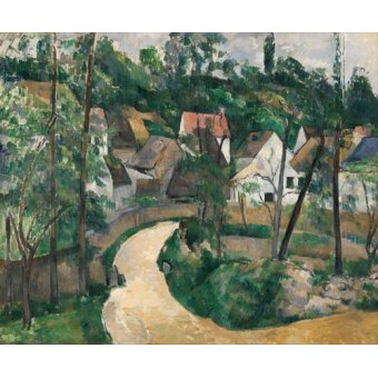 - Quadro -Turn in the Road, 1881- - Cezanne, Paul