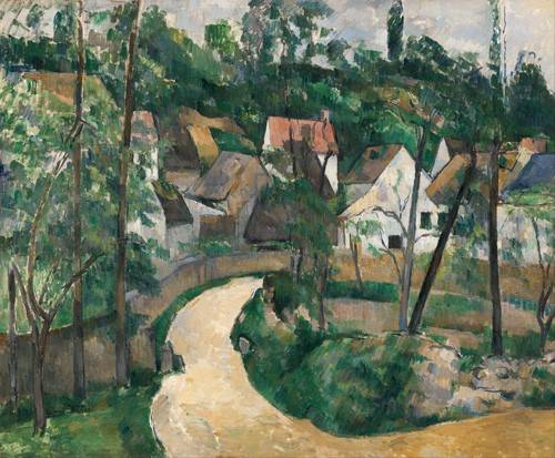 quadros-de-paisagens - Quadro -Turn in the Road, 1881- - Cezanne, Paul