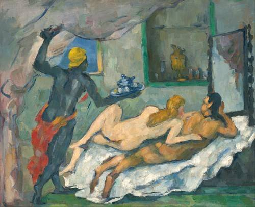 quadros-nu-artistico - Quadro -Afternoon in Naples- - Cezanne, Paul