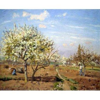 - Quadro -Huerto en Flor (Louveciennes), 1872- - Pissarro, Camille