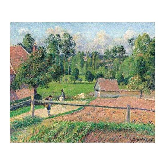pinturas de paisagens - Quadro -Vue de la fenêtre de l'artiste (Eragny)-