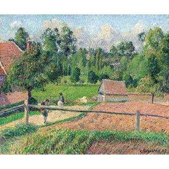- Quadro -Vue de la fenêtre de l'artiste (Eragny)- - Pissarro, Camille