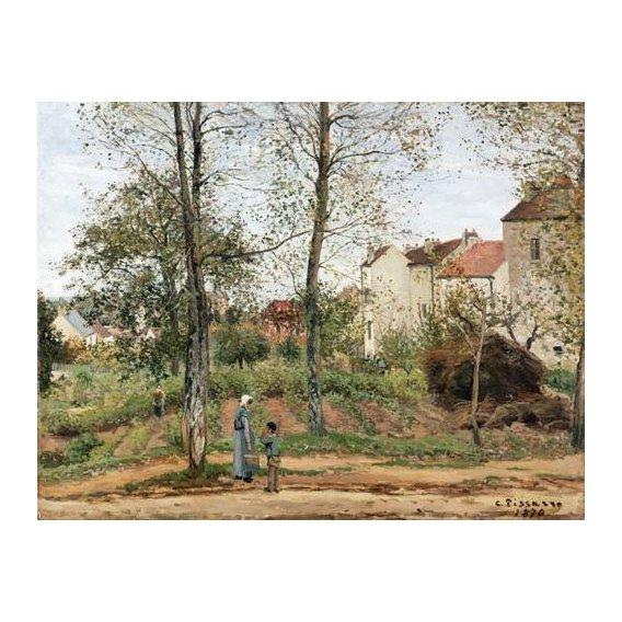 pinturas de paisagens - Quadro -Houses at Bougival (Autumn)-