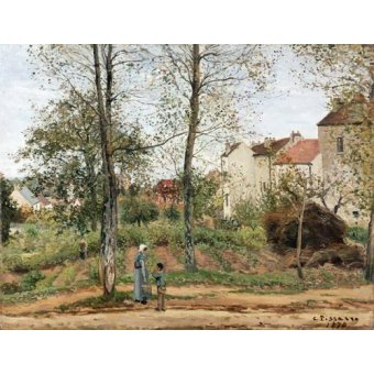 - Quadro -Houses at Bougival (Autumn)- - Pissarro, Camille