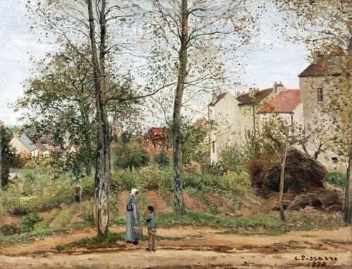 quadros-de-paisagens - Quadro -Houses at Bougival (Autumn)- - Pissarro, Camille