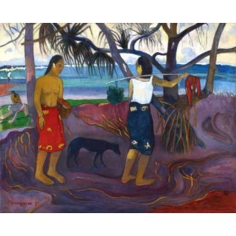 - Quadro -I Raro Te Oviri (Under the Pandanus)- - Gauguin, Paul