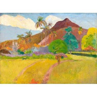 - Quadro -Tahitian_Landscape- - Gauguin, Paul