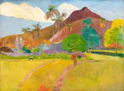 quadros-de-paisagens - Quadro -Tahitian_Landscape- - Gauguin, Paul