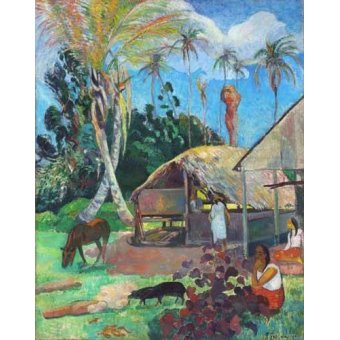 - Quadro -The Black Pigs- - Gauguin, Paul