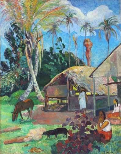 quadros-de-paisagens - Quadro -The Black Pigs- - Gauguin, Paul