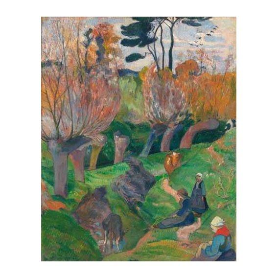pinturas de paisagens - Quadro -Paisaje en Bretaña-