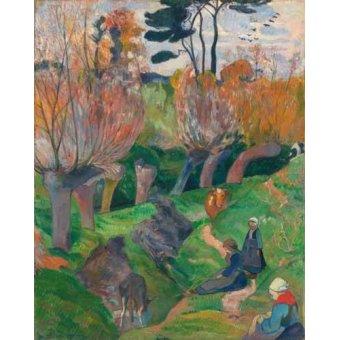 - Quadro -Paisaje en Bretaña- - Gauguin, Paul