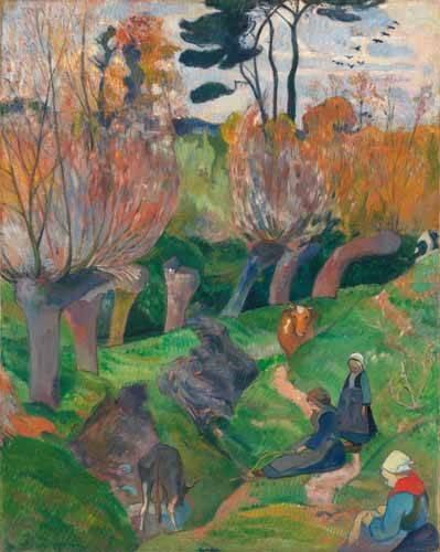 quadros-de-paisagens - Quadro -Paisaje en Bretaña- - Gauguin, Paul