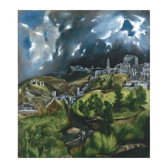 pinturas de paisagens - Quadro -Vista de Toledo, 1596-
