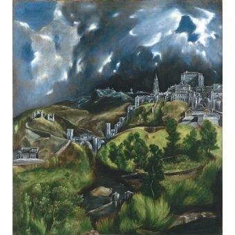 - Quadro -Vista de Toledo, 1596- - Greco, El (D. Theotocopoulos)