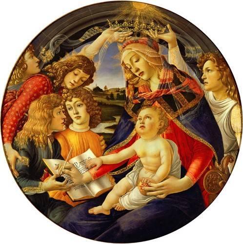 quadros-religiosos - Quadro -La Virgen Del Magnificat- - Botticelli, Alessandro