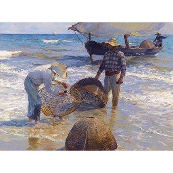 quadros de paisagens marinhas - Quadro -Los pescadores valencianos- - Sorolla, Joaquin