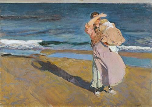 pinturas-de-retratos - Quadro -Pescadora con su hijo- - Sorolla, Joaquin