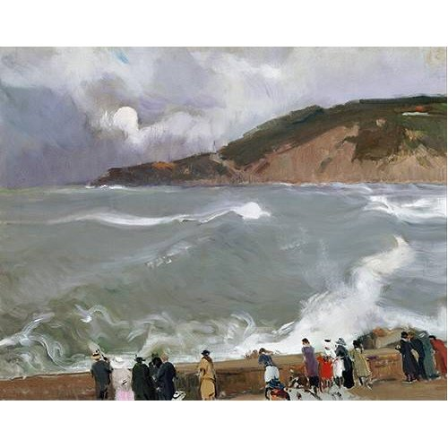 pinturas de paisagens marinhas - Quadro -Rompeolas, San Sebastian-