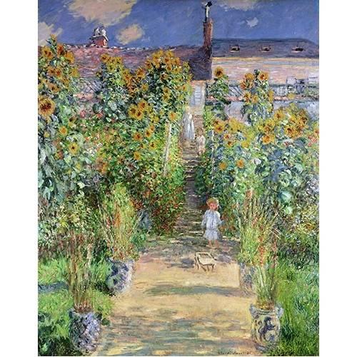 pinturas de paisagens - Quadro -Jardin de Monet en Vétheuil, 1880-