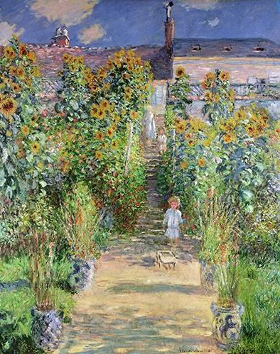 quadros-de-paisagens - Quadro -Jardin de Monet en Vétheuil, 1880- - Monet, Claude