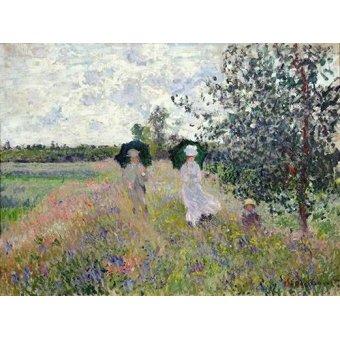 - Quadro -Promenade pres d'Argenteuil, 1873- - Monet, Claude