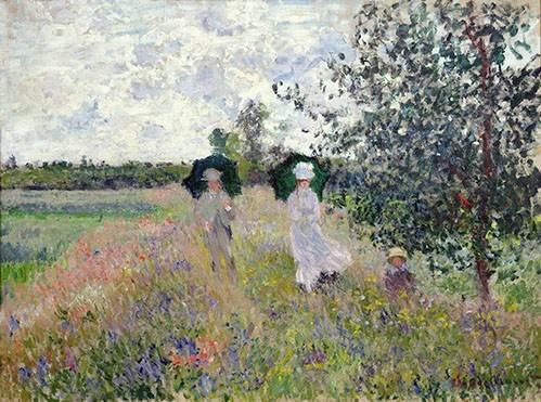 quadros-de-paisagens - Quadro -Promenade pres d'Argenteuil, 1873- - Monet, Claude
