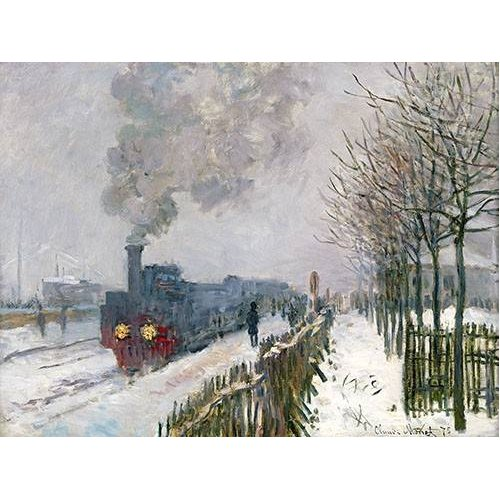 Quadro -Train dans la neige, La Locomotive, 1875-