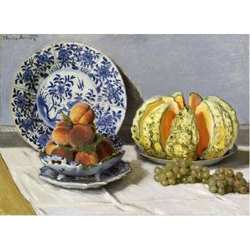 naturezas mortas - Quadro -Nature morte au melon-