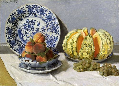 naturezas-mortas - Quadro -Nature morte au melon- - Monet, Claude