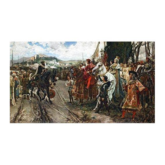 pinturas do retrato - Quadro -La Rendición de Granada-