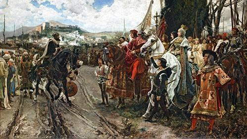pinturas-de-retratos - Quadro -La Rendición de Granada- - Pradilla, Francisco