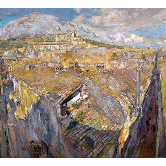 - Quadro -Pueblo en L'Empordá- - Gimeno, Francesc