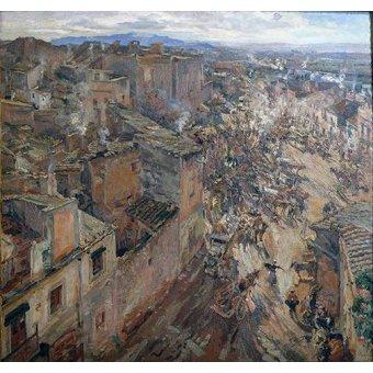 - Quadro -Dia de mercado en Torroella, 1918- - Gimeno, Francesc