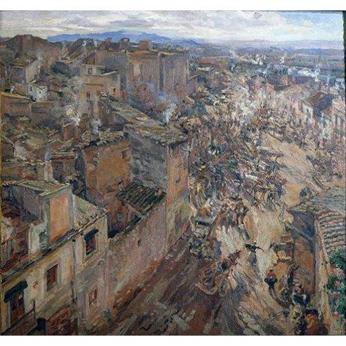 Quadro -Dia de mercado en Torroella, 1918-