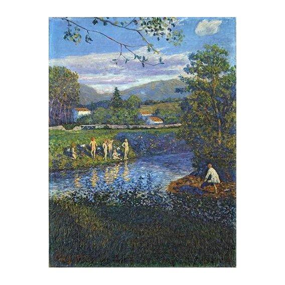 pinturas de paisagens - Quadro -Baño en Rentería-