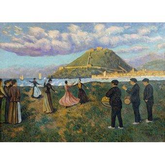 - Quadro -Baile en El Antiguo, San Sebastian- - Regoyos, Dario de