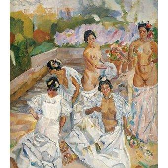 quadros nu artistico - Quadro -El Baño (Sevilla)- - Iturrino, Francisco