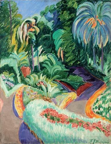 quadros-de-paisagens - Quadro -Jardin- - Iturrino, Francisco